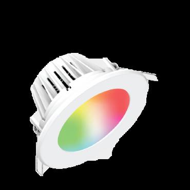 Bộ đèn LED Downlight thông minh Điện Quang Apollo ĐQ SLRD04 07765 115 BR01 (7W, daylight, 4.5 inch, kết nối Bluetooth, điều khiển sắc màu RGB)