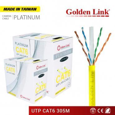 CÁP MẠNG GOLDEN LINK PLATINUM UTP CAT 6 – VÀNG MADE IN TAIWAN