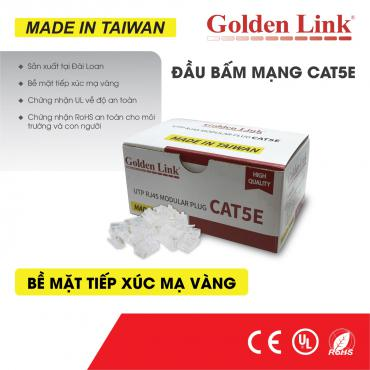 ĐẦU BẤM MẠNG GOLDEN LINK RJ45 UTP CAT5E – MADE IN TAIWAN