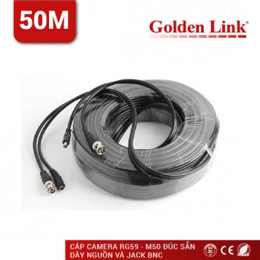 CÁP CAMERA GOLDEN LINK RG59-M50 ĐÚC SẴN DÂY NGUỒN, JACK BNC 50M