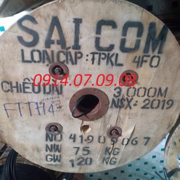 Dây thuê bao quang treo 4FO Saicom (FTTH4)