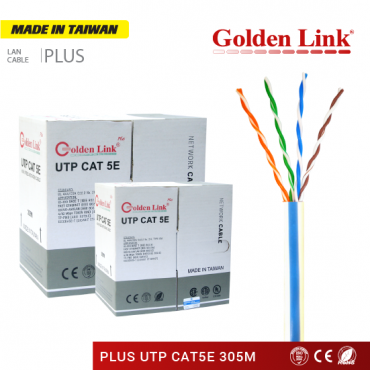 CÁP MẠNG GOLDEN LINK PLUS UTP CAT 5E 305M – MADE IN TAIWAN