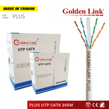 CÁP MẠNG GOLDEN LINK PLUS UTP CAT 6 – MADE IN TAIWAN