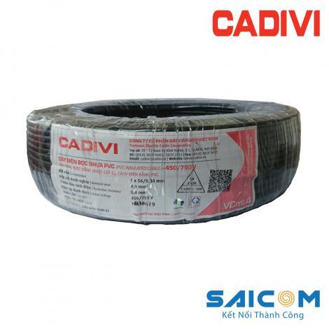 Dây Điện Cadivi Đơn Mềm Bọc Nhựa PVC - VCmt