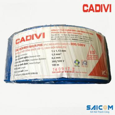 Dây Điện Đơn Cứng Bọc Nhựa PVC Cadivi - VC 600V